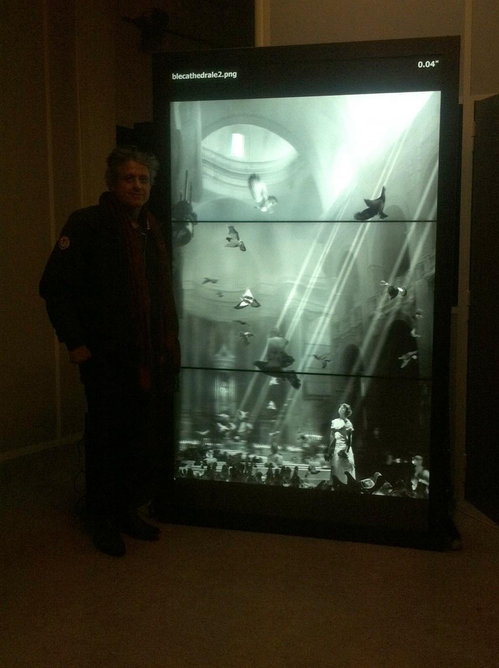 Mur d'écrans vertical